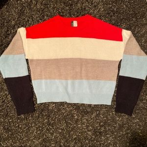 H&M Divided striped sweater